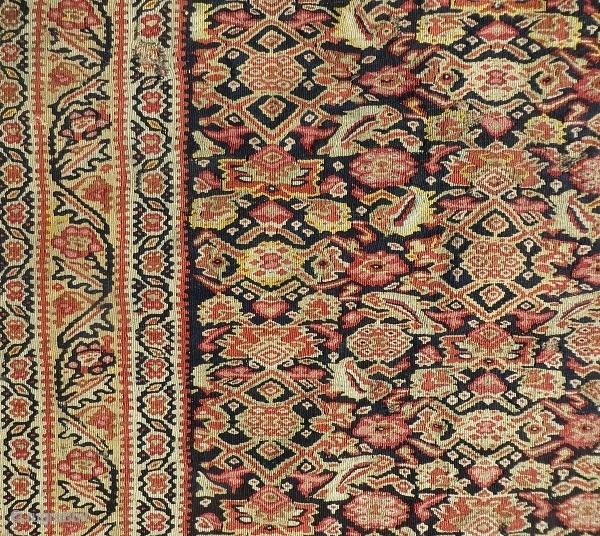 senneh kilim very fine quality 1870 circa size 190x130cm good condition
