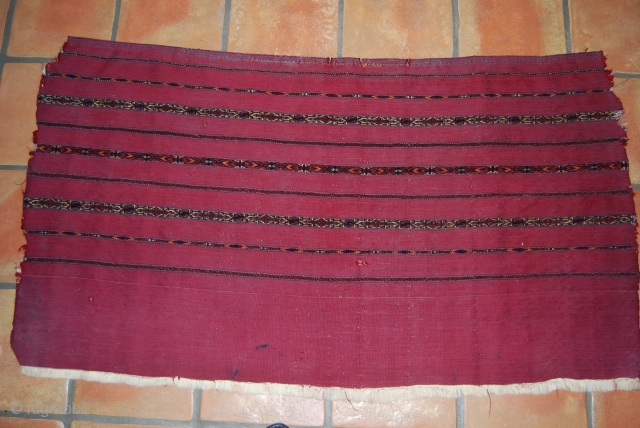 Tekke Kizil Chuval face, 73 x 133 cm, very finely woven and knotted