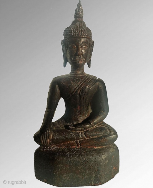 Thai lacquered wooden Buddha