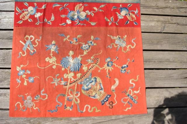 chinese textile on felt 80x90cm