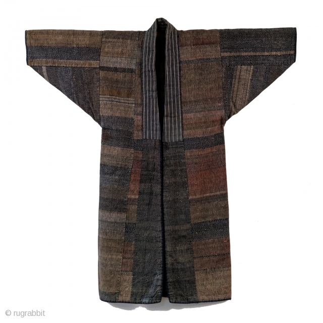 Stunning earth tone sakiori fisherman's jacket. 