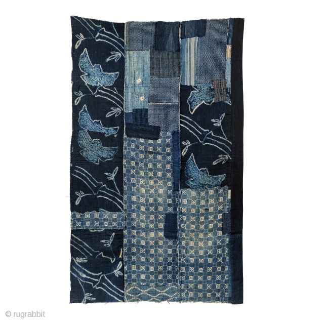 Boro Futon - Shibori Sparrow and Bamboo