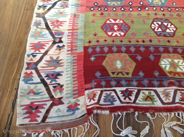 Turkish / Konya Kilim. Excellent and Orjinal condition. Size 5'5x11 (168x336)