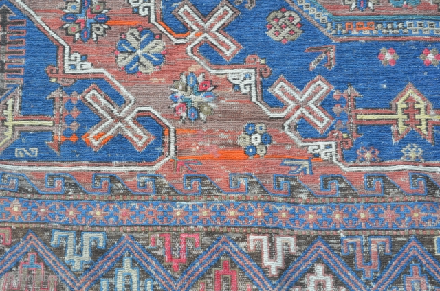 19th-C Anatolian Turkish Sumac Rug 13' x15' unusually large.