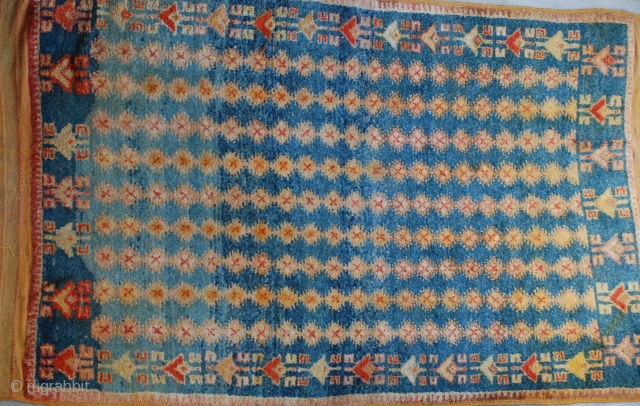 "High Atlas Mts. Ait Ouaouzquite, Berber wool 96""x 56"", 1940s"