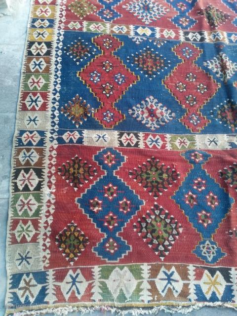 19th century beginning middle anadolu yahyali kilim very thin