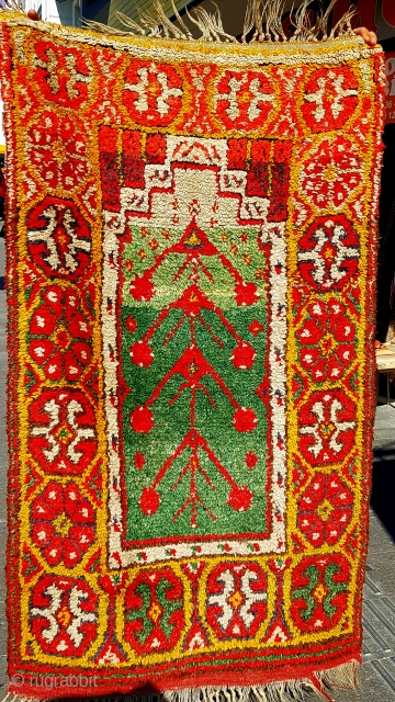 Size : 90 x 155 (cm), Middle anatolia (konya), Tulu