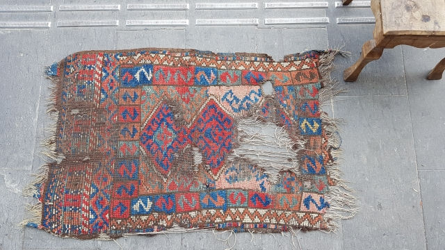 size : 70 x 110 (cm)   18th Century West Anatolian Karakeçili fragment