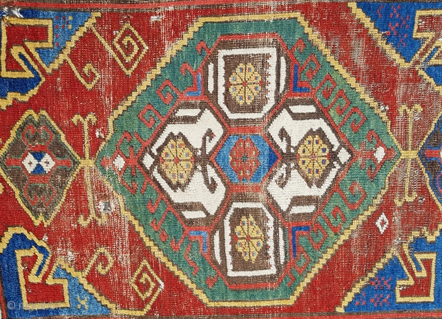 Size : 120 x 370 (cm) Woven in the late 18th century. Central Anatolia Konya region (karapinar). color and pattern combination are amazing.