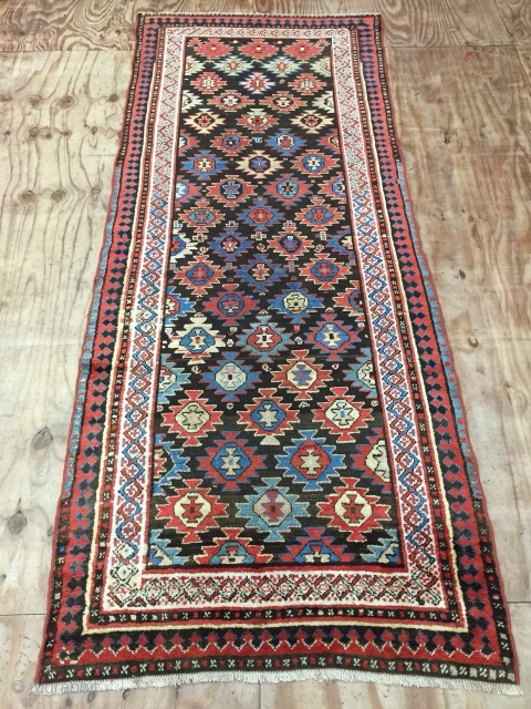 Antique handmade Persian Kurdish Runner,All in natural,very Attractive design,Clean,low pile