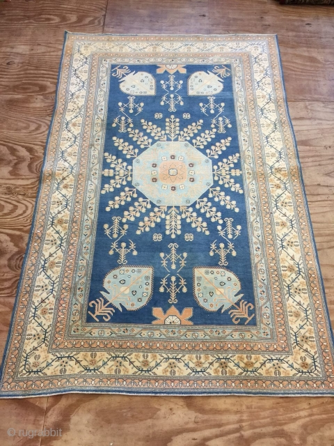 Antique handmade Rare Indian Agra rug,full cotton,lovely design and colours,good pile,All in natural,somewhere is old repaired,