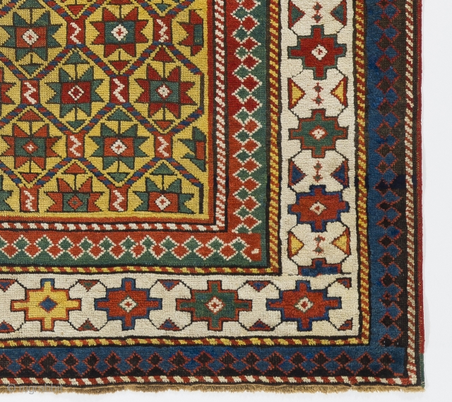 Antique Caucasian Gendje Rug, 4.5 x 6.7 ft (135x200 cm), ca 1880