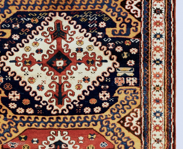 "Chelaberd Rug, Karabagh, South West Caucasus, 4'5"" x 8'  (135x240 cm), ca 1900 or before, in German Condition."