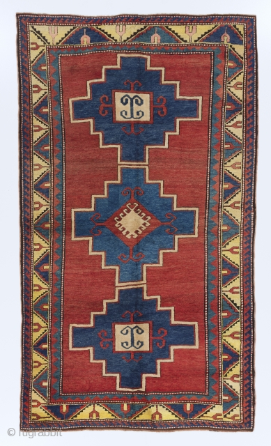 "Antique Caucasian Kazak Rug, 5' x 8'7"" (153x262 cm), ca 1900. no 4429"