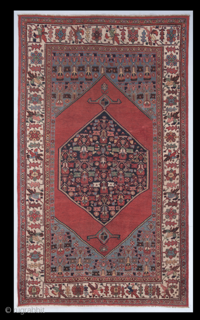 "Antique Persian Bidjar Rug, 5'2"" x 9' - 161x276 cm, no: 4611"