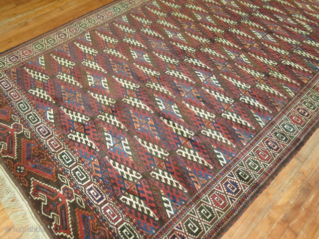A classic  Turkeman Rug from the early 20th century 6'4'' x 10'10''. Price is Final and Includes shipping domestically