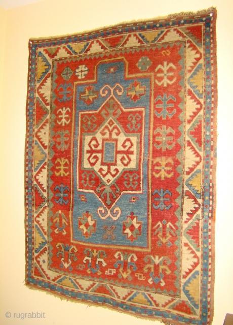 "Caucasian Fachralo Prayer Rug. Size:43""X58"" ...3'7""X4'10"""