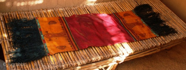 Vintage Traditional Tuareg Leather Pillow with fringes