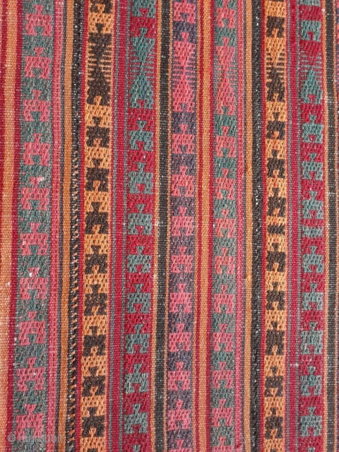 """Shahsavan jajim belongs to the end of 19th century. Size: 200cm * 130cm wool on wool. This kind of jajim is called """"shagha"""". Every month I travel to IRAN for collecting unique jajims to add to  ..."""