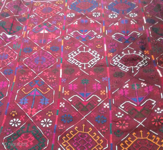 On offer is a collectible jajim from IRAN belongs to the first half of 20th century with rare pattern.