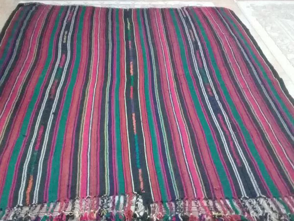 Khalkhal jajim from the first half of 20th century (1920-1930). 260*220 cm vegetable dyes Khalkhal located in the north west part of Iran was famous for its jajims knotted by Shasevan tribe.