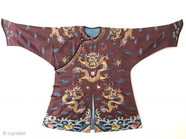 An exceptional and rare antique Imperial Chinese Dragon Robe made for a child / young boy. It dates to the 19th Century Qing Dynasty (pronounced Ching / Tsing) dynasty and to find  ...