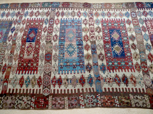 A good 19th Century Aydinli Zebir kilim in excellent condition. 330 x 170 cm. Please ask for more details.