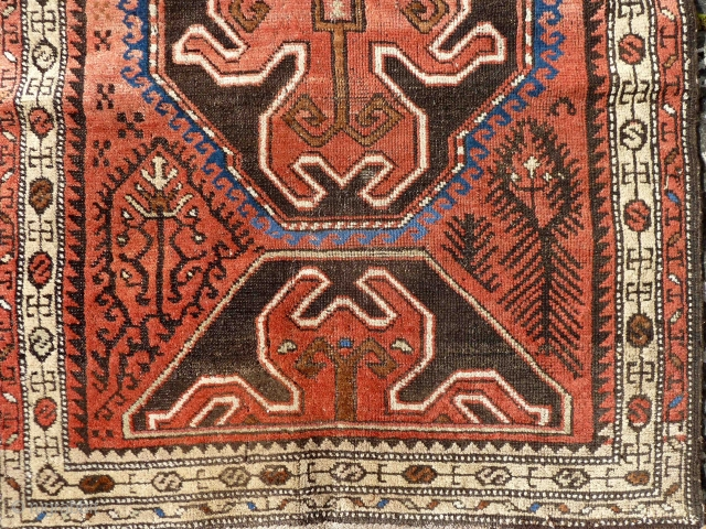 An East Anatolian rug with interesting motifs. Late 19th Century. 140 x 107cm