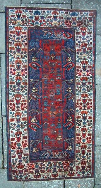 A North Persian rug, possibly Luri, with Ottoman carnation and tulip design. There are one or two related examples in the literature.