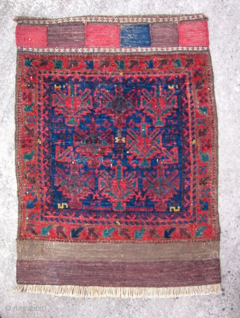 """Baluch Timuri? Bag Face, 19th century, Afghanistan. 32"""" x 24"""". Nice condition. All natural dyes."""