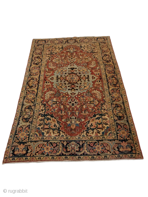 """Origin - Heriz ;  Size - 6'3"""" x 9'2"""" ;  Reference # - 34750 ;   All pictures are completely authentic and un-edited, to try and show the rugs true colors as best  ..."""