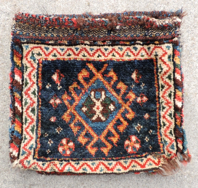 Miniature Luri Bag set.  19th century.  Size 23 x 13 inches.  Nice colors and back. Reasonable price.