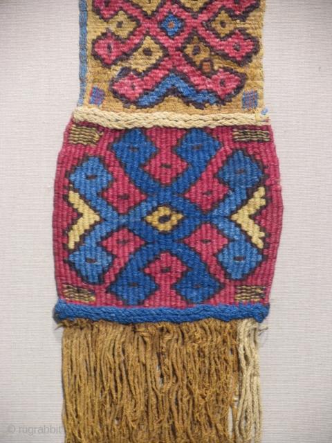 Pre-Columbian Textile Border  Peru, South Coast  Nazca Culture  Middle Horizon Period  400-800 CE  Ref: 507