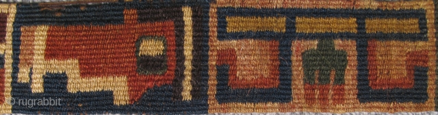 """Pre-Columbian Band Bolivia, Tiwanaku/Pukara Cult 100 B.C. – 300 A.D. Size: 18.5"""" x 2"""" (47 x 5 cm)   Please visit our online exhibition: Andean Textile Traditions."""