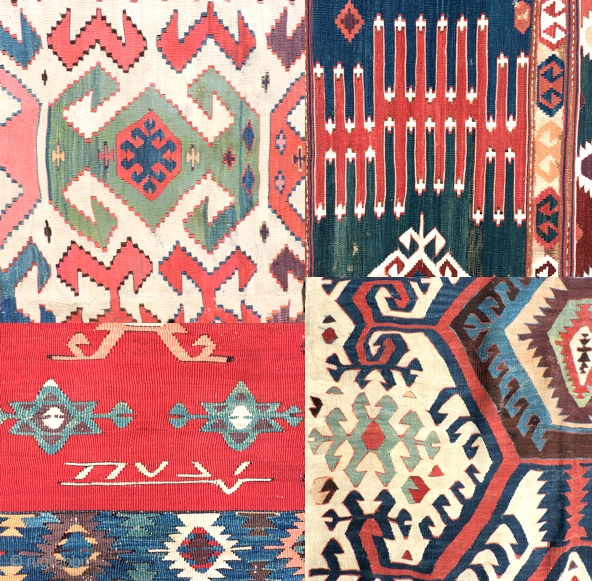 Kilims!  See my pages for Anatolian kilims and other great textile art. Lots of good things to look at.