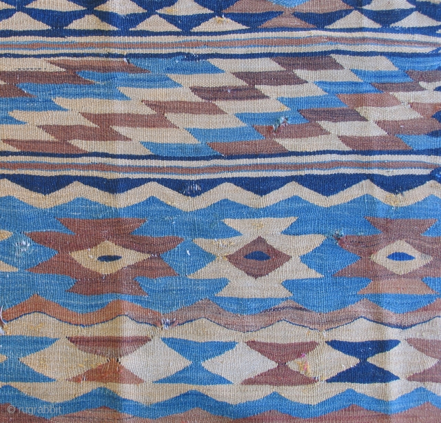 Sarkoy kilim, Balkans, 19th century, approx 10 x 12 ft.  some funky small repairs- largest one in details.