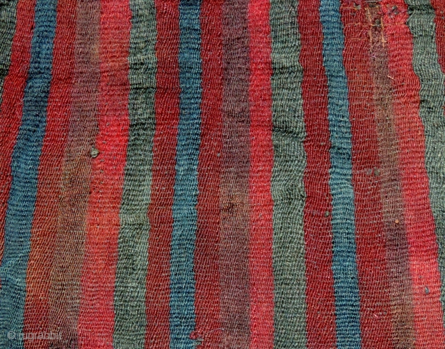 Warp faced stripes in Andean weaving preceded all other decorative themes.  Simply by varying the colors and order of the warps something primal and of timeless beauty was created. The variations  ...
