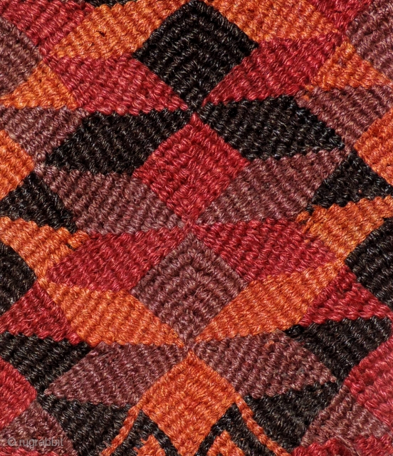 The colors of this sophisticated Pre-Columbian braided textile from Northern Chile are remarkable. Textiles of this type are exceedingly rare outside of Chilean Museums (see other examples inside). This fragment is from  ...