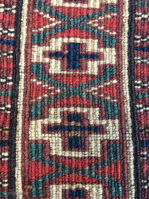19th Century Turkmen Torba.  Pieces like this are usually attributed to the Igdyr, a Yomut related group. Weavings of the type are symmetrically knotted as is this one.  It has  ...
