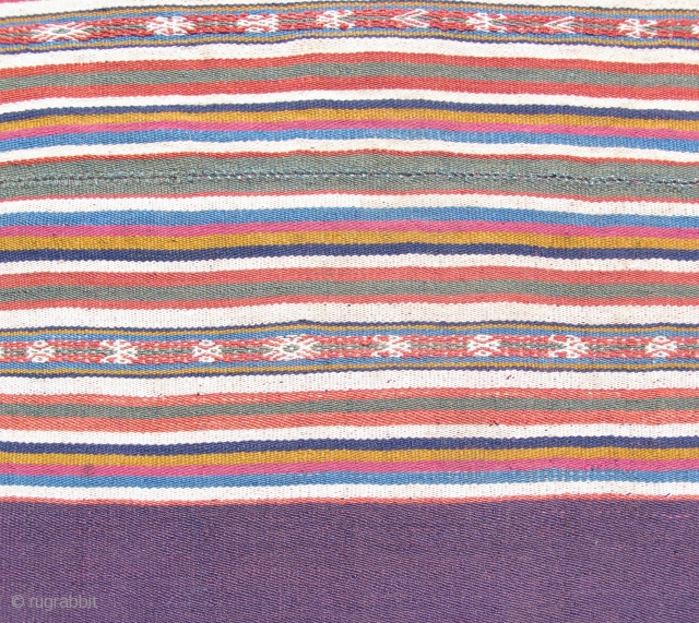 Fine Aymara Mantle,  Lake Titicaca region, Juli, Peru.  Very finely woven woman's ceremonial shoulder cloth.  19th century.  Excellent condition.  25 x 35 inches.