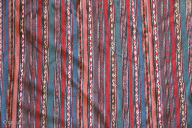 19th c Persian Jajim with all the colours of the rainbow, in perfect condition. Large size approx. 240 x 240cm