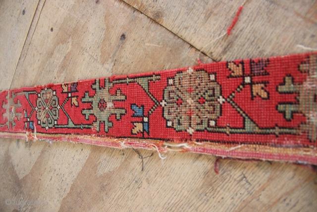 16th century 'Kilim design' oushak rug outer border 10 x 300cm