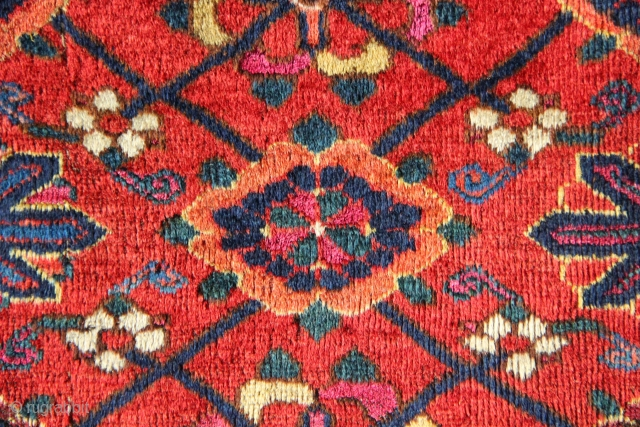 "Colourful, fine, huge old Beshir chuval 2'10"" x 6'0"" circa 1850. A real colour riot!