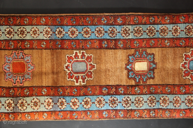 "Rare antique Bakshiash narrow runner 2'7"" x 13'2"" in excellent condition."