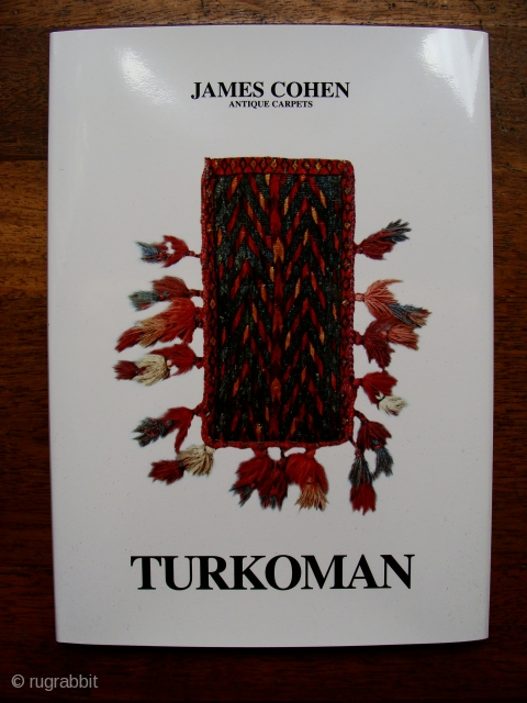 Buy it now, my new hardback Turkoman catalogue. 60 glossy pages with 30 full colour illustrations. Order here: http://www.jamescohencarpets.com/catalogues All pieces will be on view at my stand in ICOC Stockholm and for  ...