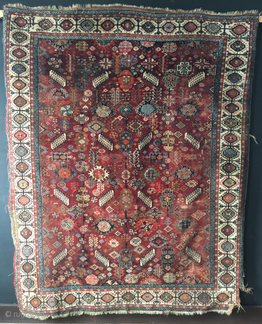 An early red ground Shekarlu I will be bringing to ARTS. See it at Arts, October 27-29 in San Francisco.http://artsrugshow.net/