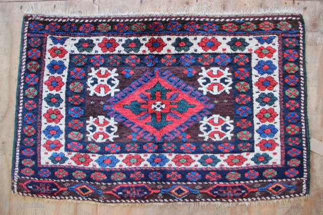 """Superb Jaf Chuval circa 1880. Full, thick pile allover and fantastic colours. 2'7"""" x 4'5"""""""