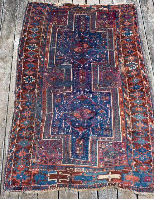 East Anatolian rug . About 4ft x 6ft . A tribalized version of an iconic type made popular by McMullin .