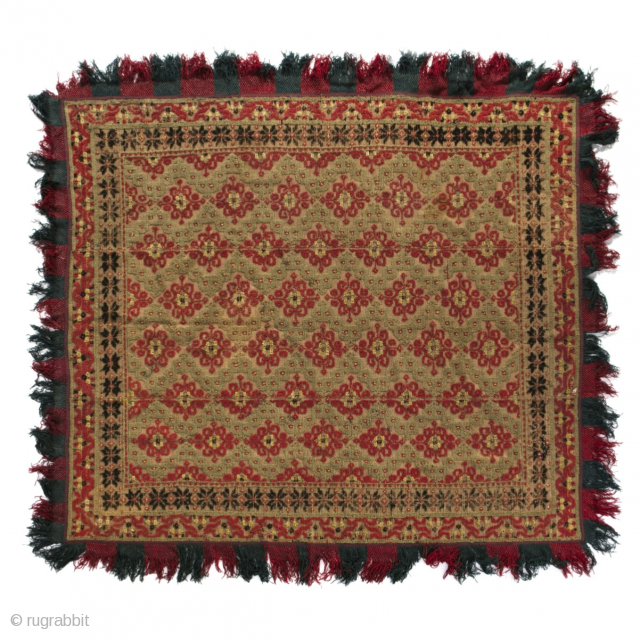 Beautiful Antique late 18th century Spanish Alpujarra Rug / becdcover