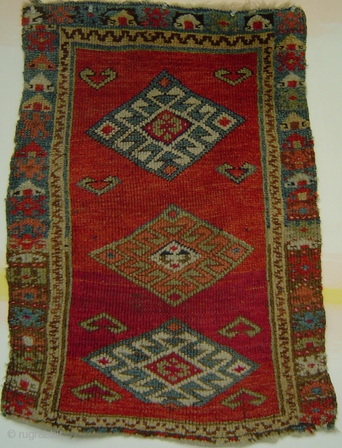 Early Central Anatolian yastik with superb colors